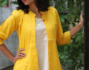 Sunny yellow Summer Jacket.
