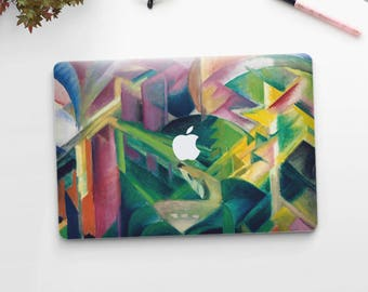 "Franz Marc, ""Deer in a Monastery Garden"". Macbook Pro 15 skin, Macbook Pro 13 skin, Macbook 12 skin. Macbook Pro skin. Macbook Air skin."