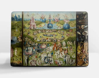 "Laptop skin (Custom size) Hieronymus Bosch ""The Garden of Earthly Delights"" HP laptop skin Dell laptop skin Sony laptop skin etc."