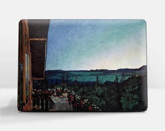 "Laptop skin (Custom size). Harald Sohlberg, ""Summer Night"". Laptop cover, HP, Lenovo, Dell, Sony, Asus, Samsung etc."