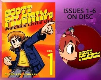 Scott Pilgrim issues 1-6 -eBook- PDF format on DISC