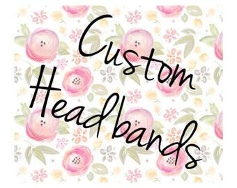 Custom, tie, bandana headbands