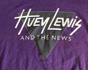 Huey lewis and the news 1984 sports tour shirt