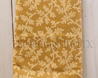 1 YD Autumn Lily Leaves of Green 100% Premium Cotton Fabric
