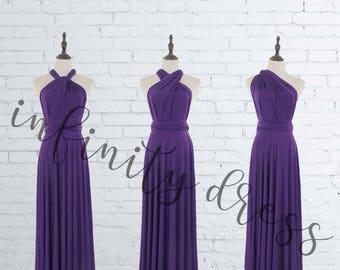 Purple Bridesmaid Dresses, long infinity dress,Floor Length Ball Gown Infinity Dress Convertible Formal Multiway Wrap Dress Evening Dress
