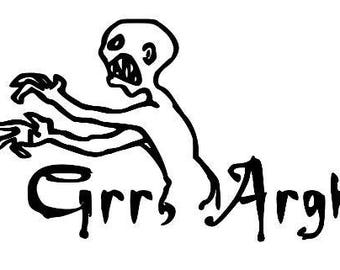 Grr Argh Buffy The Vampire Slayer Mutant Enemy Horror Vinyl Car Decal Bumper Window Sticker Halloween Any Color Multiple Sizes