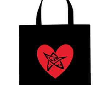 Elder Sign Cthulhu Lovecraft Valentine's Day Canvas Tote Bag Market Pouch Grocery Reusable Halloween Merch Massacre Black Friday Christmas