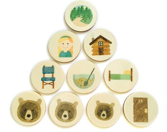 goldilocks - story tellers / story stones