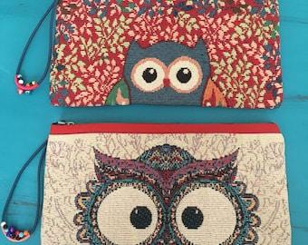 Owl Zip Pouch