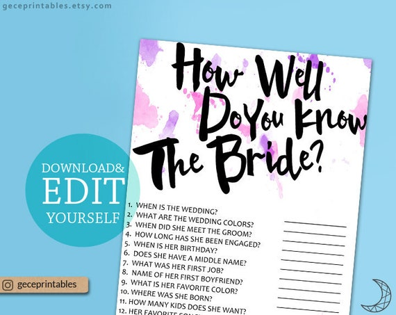Who knows the bride best editable game how well do you know bride il570xn solutioingenieria Gallery