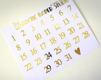 LARGE Date Dots - FOILED Sampler Event Icons Planner Stickers