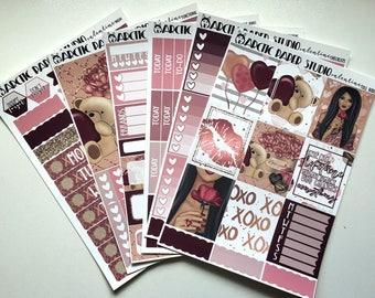 Valentine * NON-FOILED Erin Condren Vertical Planner Sticker