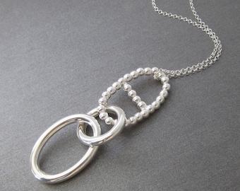Necklace big pendant Silver 925/1000