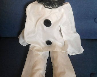 Pierrot doll face, hands and foot porcelain. Vintage