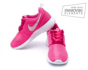 Nike Roshe One Pink with Swarovski AB crystals