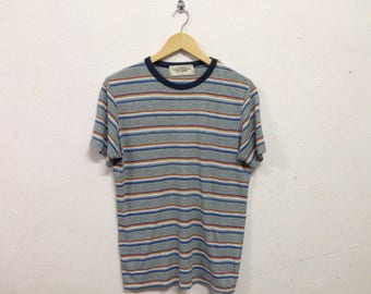 Rare Vintage Stripes Back Number T shirt