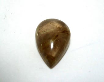 Amazing AAA+++ High Quality Natural Golden Rutile Quartz Gemstone Cabochan Pear Shape 24.00 Cts. Size 16 x 23 x 6 MGJ 129