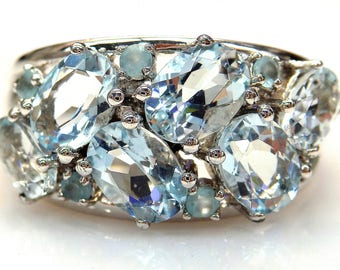 Sterling Silver Oval Aquamarine Ring