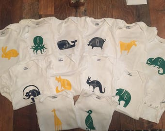Baby bodysuit 12 month set