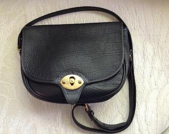 Dooney And Bourke RARE Black Calvary Saddle Bag