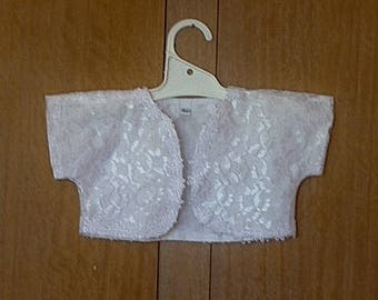 Baby girls Christening jacket, Special occasion jacket, Lace jacket, size 6 months