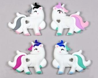 Silicone teether unicorn