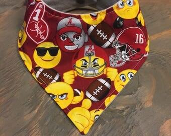 Baby Bandana Bib, Cool 2 Drool Bib, Baby / Toddler Bandana Bib, Drool Bib, Stylish, College, Alabama, Roll Tide, Bama, Crimson Tide Emoji