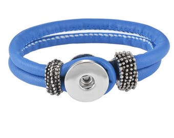 Dark blue for button snap bracelet