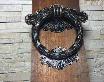 Iron ring door pull Etsy