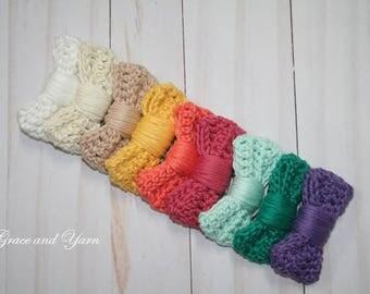 Crochet Hair Bow Clip, Crochet Hair Bow Barrette