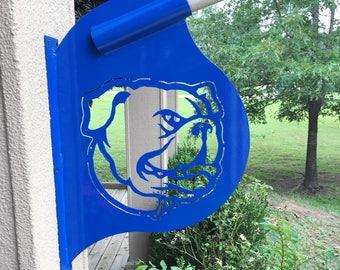 Louisiana Tech metal flag holder