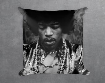 Jimi Hendrix Decorative Pillow, Square pillow with\ without zipper