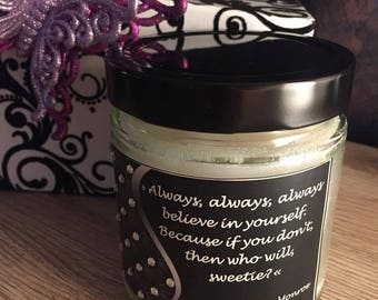 Marilyn Monroe Quotes Candles/Wood Wick Scented Candle/Marilyn Monroe Quote Candle/ Famous Quotes on Candles/13.8 oz