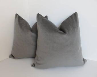 Onyx Velvet Pillow Cover- Velvet Pillow Cover- Accent Pillow Cover