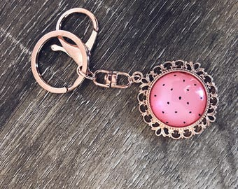Keyring | Rose Gold Keyring | Keychain | Watermelon
