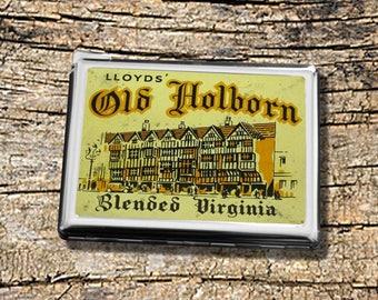 Vintage Old Holborn Tobacco Tin with built in lighter. Vintage cigarette case