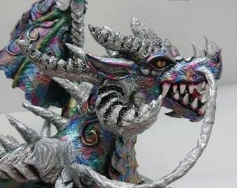 Cardboard Dragon statue figure