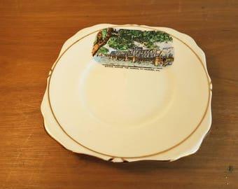 "Australiana collectable plate ""Bridge across the Murray, at Mildura, Vic"""