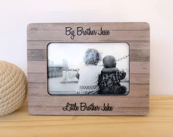 Siblings picture frame. Nursery decor. Brothers picture frame. Sisters picture frame. Big Brother Little Brother Frame