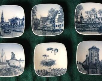 6 Bing & Grondahl Kjeld Bonfils Porcelain Souvenir Plates - Low numbered
