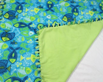 Tropical Fish Fleece Blanket