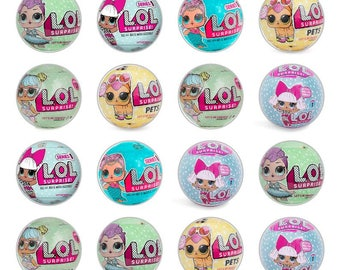 24 x L.O.L Surprise Dolls Lol edible rice fairy paper cupcake cake toppers edible decoration Lol Surprise Dolls