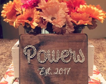 Personalized String Art- Last Name/ Established Date