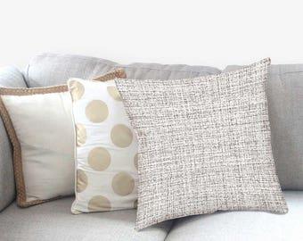 Neutral Sofa Pillow - Modern Farmhouse - Farmhouse Pillows - Neutral Pillow - Home Decor -  Decorative Pillow - Textured Pillow