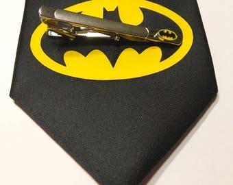 Batman Necktie with Batman Tie Clip