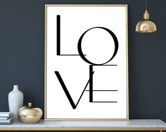 love poster , printable  bathroom print, printable love typography, words print, wall art