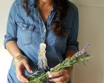 Macrame Necklace - Macrame Jewelry - Bohemian Jewelry - Tassel Necklace - Boho Necklace - Bohemian Necklace - Macrame Accessories
