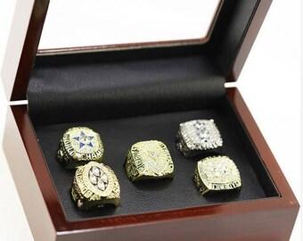 Custom Replica  Dallas Cowboys Super Bowl Rings..1971,1977,1992,1993,1995