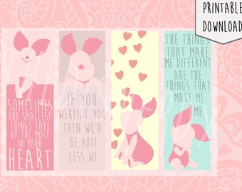 Piglet Bookmark, Digital Download , Disney inspired