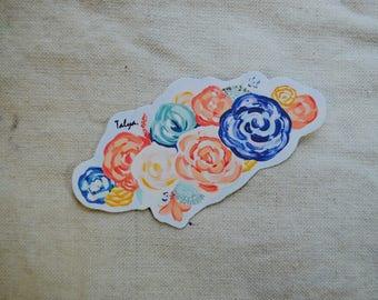 Vinyl Forbiddingly Floral Laptop Sticker